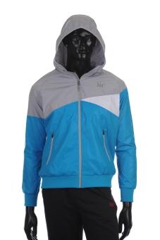 361 Degrees Running Series Hoody Jacket (Blue)