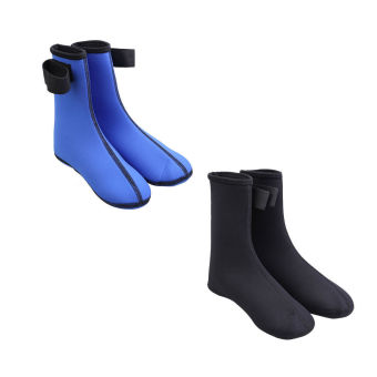 3mm Neoprene Diving Scuba Surfing Swimming Socks Water Sports Boots Blue L - picture 2