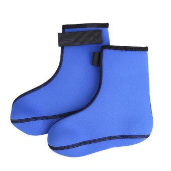 3mm Neoprene Diving Scuba Surfing Swimming Socks Water Sports Boots Blue L