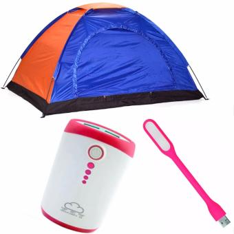 4-Person Dome Camping Tent Bundle With LED Light (Color May Vary)And Powerbank (Color May Vary) Price Philippines