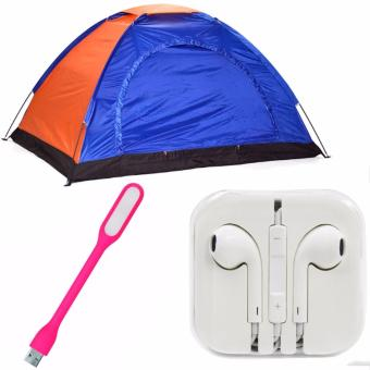 4-Person Dome Camping Tent Bundle With LED Light(Color May Vary)And Headset (white) Price Philippines
