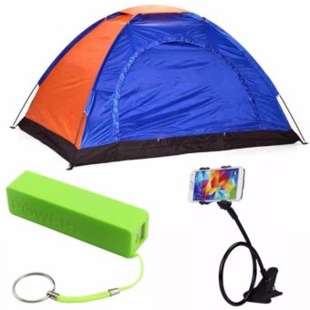 4-Person Dome Camping Tent with 2600mAH Power Bank (color mayvary)and Lazypod (color may vary) Price Philippines