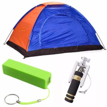 4-Person Dome Camping Tent with 2600mAH Power Bank (color mayvary)and Monopod (color may vary) Price Philippines