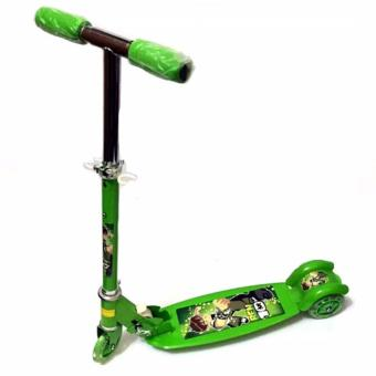 508 type Ride-On Push Scooter for Kids with laser wheel (Green)