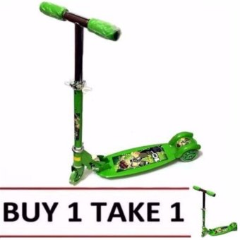 508 type Ride-On Push Scooter for Kids with laser wheel (Green) BUY 1 TAKE 1