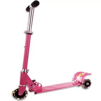 508 type Ride-On Push Scooter for Kids with laser wheel (Pink)