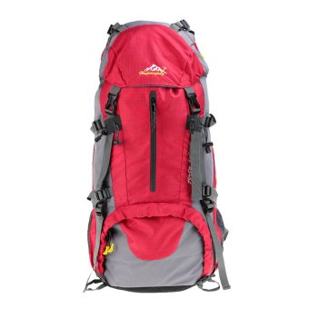 50L Waterproof Outdoor Sport Hiking Trekking Camping TravelBackpack Pack Mountaineering Climbing Knapsack with Rain Cover