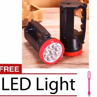 50M Outdoor 9 LED Torch Lamp Rechargeable Light Camping WalkingHiking Searchlight Flashlight with LED LIght (Color MAy Vary)