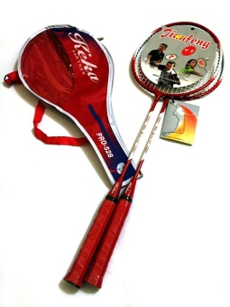 #528 Type Keka Portable Double Badminton Racket (Red)