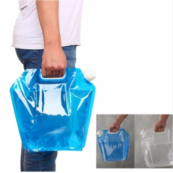 5L Outdoor Foldable Folding Collapsible Drinking Water Bag CarWater Carrier Container for Outdoor Camping Hiking Picnic BBQ -intl