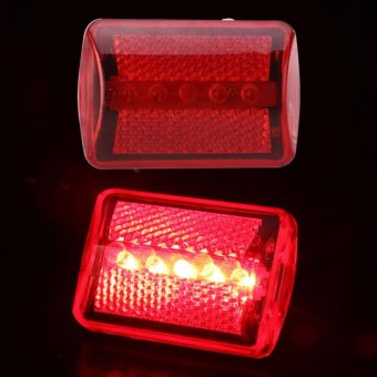 5LED Flashing Red Rear Light Cycling Bicycle Bike Taillight Safety7Modes - 2