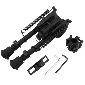 6-9 Inches Outdoor Aluminium Telescopic Rifle Bipod Adjustable Spring Return with 3 Adapters - intl - 3