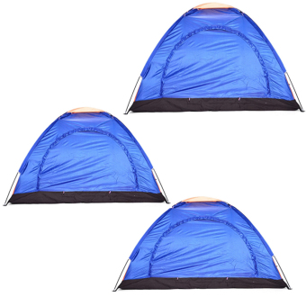 6-Person Dome Camping Tent (Multicolor) Set Of 3