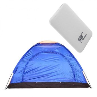 6-Person Dome Camping Tent (Multicolor) with Adamas AAA 5000mahSuper Thin Mobile Power Bank (White)
