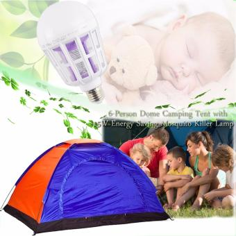 6-Person Dome Camping Tent (Multicolor) With Free 15W Energy SavingMosquito Killer Lamp (White) Price Philippines
