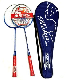 #600 Type Keka Professional Double Badminton Racket (Blue)