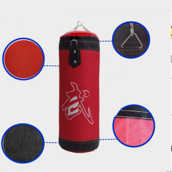 60cm Empty Punching Bag with Chain Martial Art Hollow Taekwondo Boxing Training Fitness Sandbag - Intl