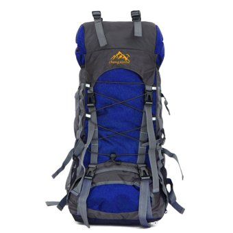 60L Outdoor Waterproof Camping Backpack(Blue)