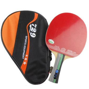 729 3Star (3 Star 3-Star) Pimples In Table Tennis Racket with aPaddle Bag-Shakehand(long handle)-FL