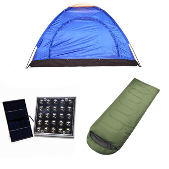 8-Person Dome Camping Tent with Solar LED Lamp and Outdoor SleepingBag Bundle Price Philippines