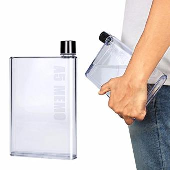 A5 Memo Bottle Portable Ultra Slim 420ML Water Bottle SET OF 2(Clear) - 2