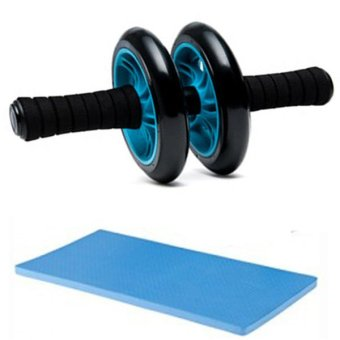 Abdominal Wheel Gym Exercise Roller with Extra Thick Knee PadMat-for Best Abs Workout-perfect Fitness Equipment