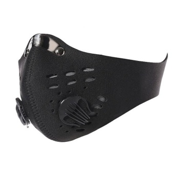 Activated Carbon Anti Dust Bicycle Motorcycle Racing Ski Half FaceMask BK - intl