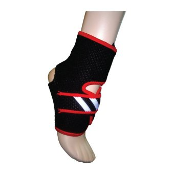 Adidas Adjustable Ankle Support (Black/Red)
