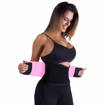 Adjustable Belly Trainer Waist Support Fitness Belt Sport waistbandPower Tummy Slim Belts (Size XL) - intl