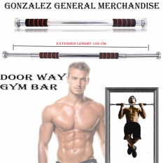 adjustable door way pull up gym bar blackorange