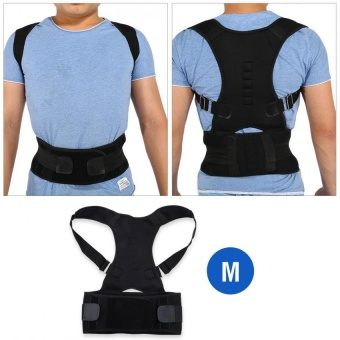 Adjustable Shoulder Brace Support Straighten Back for Posture Correction (M) - intl