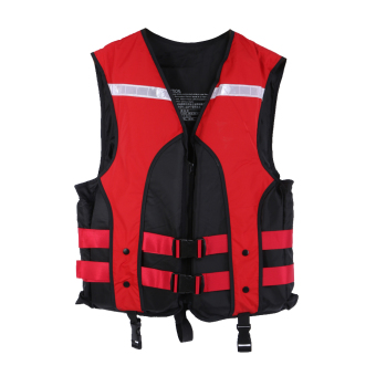 Adult Water Sports Gilet Swimmer Life Jackets Vest (Red) - intl