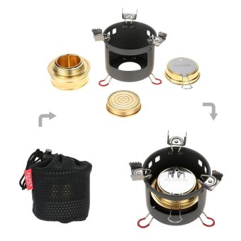 ALOCS Camping Outdoor Spirit Alcohol Burner Camping Stove AlcoholStove Bracket Support Set - intl Price Philippines