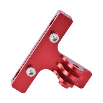 Aluminum Bike Clip Saddle Rear Seat Cycling Video Holder for Gopro 3+ 4/5 Session YI (Red) - intl - 3