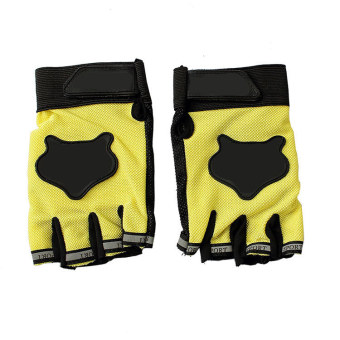 Amango Sports Half Fingers Gloves (Yellow) - picture 2