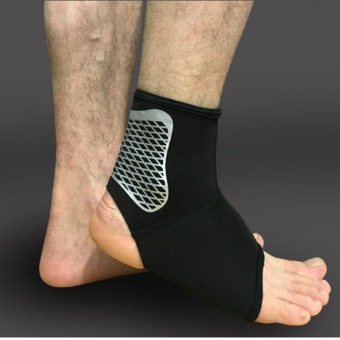 Ankle Foot Support Brace Stabilizer Strap for Plantar FasciitisAchilles Tendonitis Sprains Running Football(Single/One)XL - intl