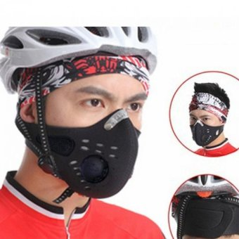 Anti Dust Half Face Mask For Cycling Bike Motorcycle Racing Ski Black