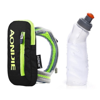 AONIJIE Nylon Marathon Handheld Hydration Pack Kettle Pack Outdoor Sports Bag Hiking Cycling Running Hand Hold Bag for 250ml Water Bottle - intl