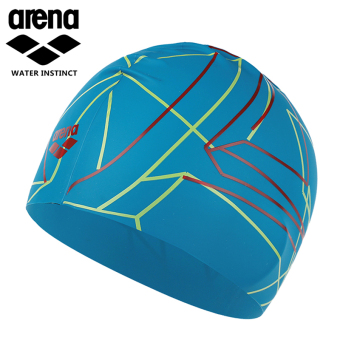 Arena fashion women men with long hair silicone swimming cap