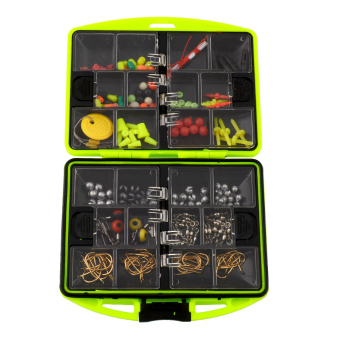 Aukey Assorted Tackle Box Jig Swivels Clamp Hooks Fishing..