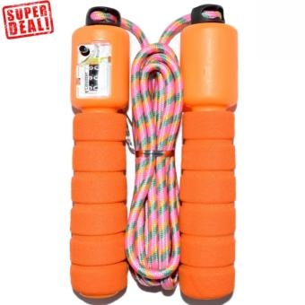 Automatic Jump Counter Adjustable Skipping Jumping Rope (Orange)
