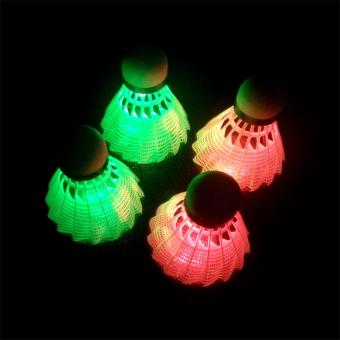 Badminton White Nylon ShuttleCock 007 w/ Led Lights