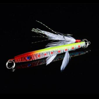 Bait Jig Crankbaits Bass Tackle Hook 11g/5.7cm Lead Fishing Lure with Feather - 4