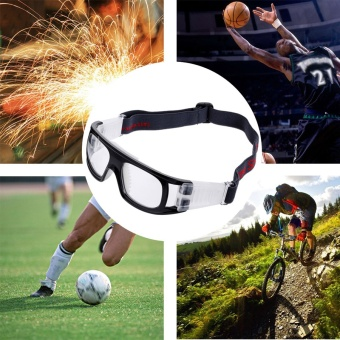 Basketball Soccer Football Sports Protective Anti-fog ExplosionProof Elastic Goggles Eye Safety Glasses for Outdoor Sports - intl