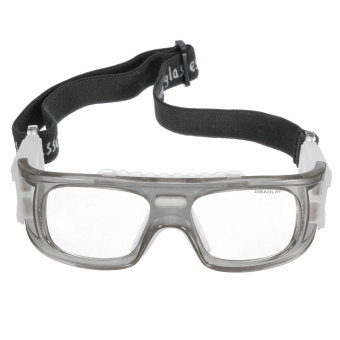 Basketball Soccer Football Sports Protective Elastic Goggles Eye Safety Glasses Grey