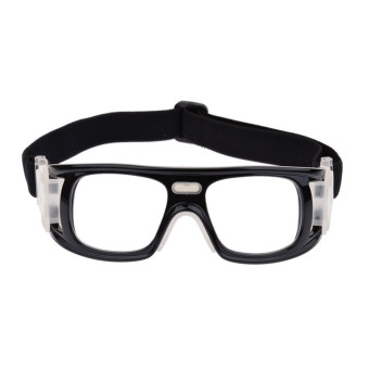 Basketball Soccer Sports Protective Eyewear Goggles Eye Safety Glasses with Case Black