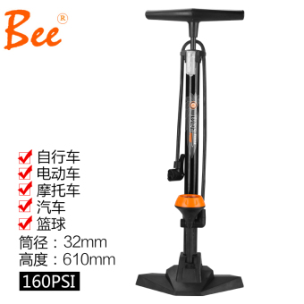 Bee High Pressure floor-home bike pump