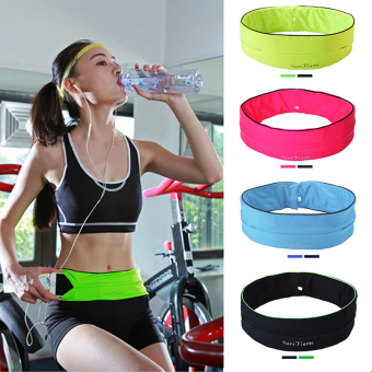 Belly Waist Bum Bag Fitness Running Jogging Belt Pouch Sports FannyPack Black S