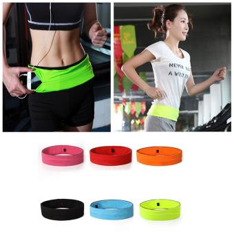 Belly Waist Bum Bag Fitness Running Jogging Belt Pouch Sports FannyPack Black S - 5