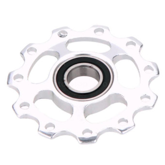 Bicycle Alloy Rear Pulley Wheel (Silver)